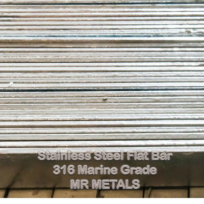 FLAT BAR  STAINLESS STEEL MARINE GRADE  316 ALL SIZES & THICKNESSES Choose a Sz