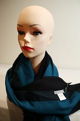 JIGSAW Two Tone wool scarf black - teal in colour new with tag