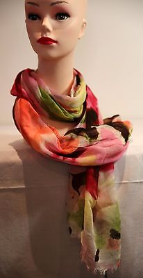 DAVID LAWRENCE Summer Modal Floral scarf pink - multi in colour new with tag