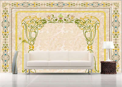 Golden Sober Garland 3D Full Wall Mural Photo Wallpaper Printing Home Kids Decor