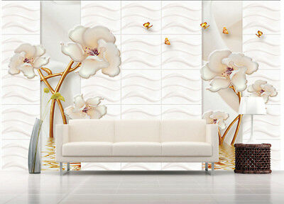 Obscure Sober Lily 3D Full Wall Mural Photo Wallpaper Printing Home Kids Decor