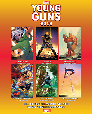 Marvel Young Guns 2018 Variant Set Of All 6.