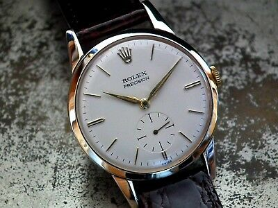 Just Beautiful 1957 Solid 9ct Gold Midsize Rolex Precision Ladies Vintage Watch