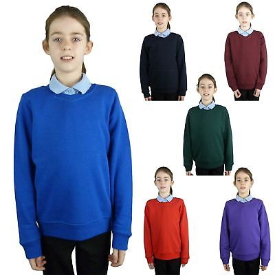 EX M&S Marks And Spencer Kids Childrens School Uniform V Neck Jumper Sweatshirt