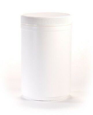 35 oz Wide Mouth White Round Plastic Jars with Lids (4 pack)