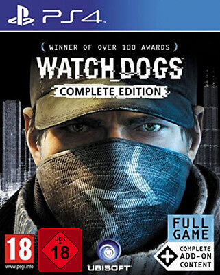 PS4 Watch Dogs Complete Edition 100% Uncut NEU&OVP Playstation 4 Paketversand