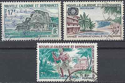 New Caledonia N°336/339/340 - Obliteration Stamp Has Date