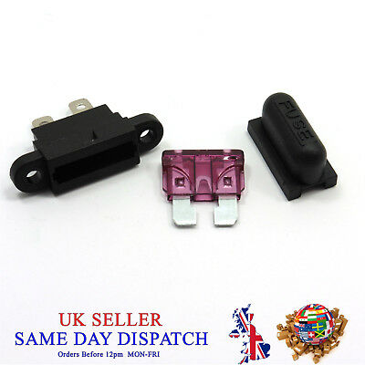 Standard Blade Fuse + Waterproof Holder with Cover Car Box Insert
