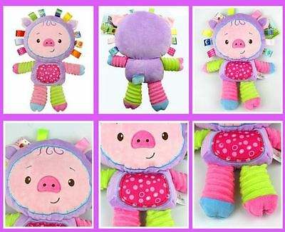 Little Pig Baby Plush Soft Toy Animal - Rattle in the belly / Toutou cochonnet