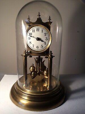 Large Vintage German 400 Day Anniversary Clock  - With Glass Dome - For Repair
