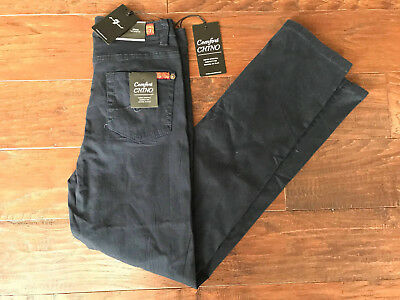 7 For All Mankind Comfort Chino Pants Slimmy Straight Leg Navy Boys Size 14 New