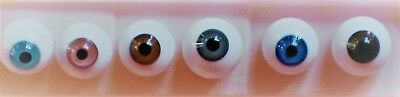 PAPERWEIGHT ROUND GLASS DOLL EYES  - REBORN - 12MM To 26MM   & MANY COLORS