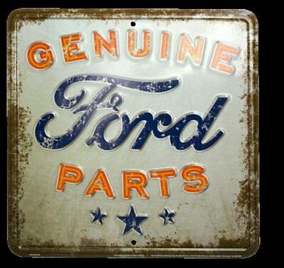 Vintage Metal Sign Retro Style Genuine Ford Parts Nostalgia, Wall Decor ORIGINAL