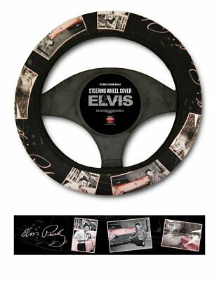 Elvis Steering Wheel Cover Pink