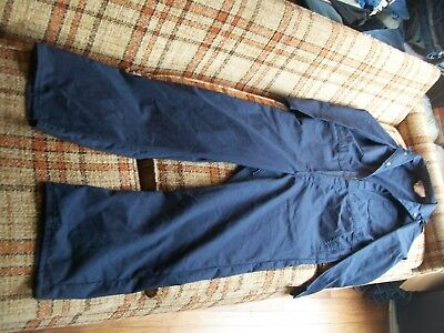 Work Safe Mens Size 42 (Actual 40x30.5) Navy Coveralls 65/34 Poly/Cotton