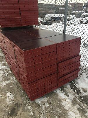 2' X 6' Symon's Style Steel-Ply Concrete Wall Forms (Refurbished) 30 Count