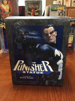 The Punisher Statue 11/5000  Full Size Bowen Designs Marvel Autographed