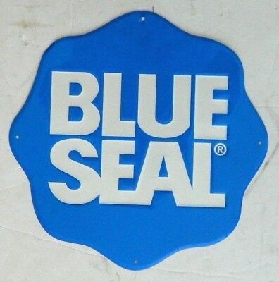 Blue Seal Feeds / Pet Foods Embossed Metal Advertising Sign