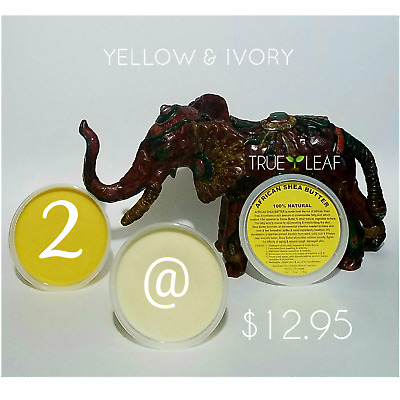 100% PURE UNREFINED RAW YELLOW IVORY AFRICAN SHEA BUTTER NATURAL GHANA 8oz cont.
