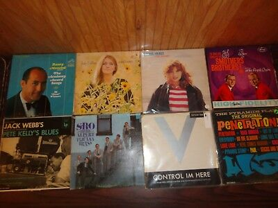 Vintage Lot of 8 LP Records Blues 70's-80's Mixed Music Country Jazz Warner #1