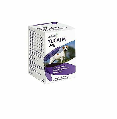 YuCALM DOG Dog Calming Supplement for Stress & Anxiety 120 Tablets OOD 04/18