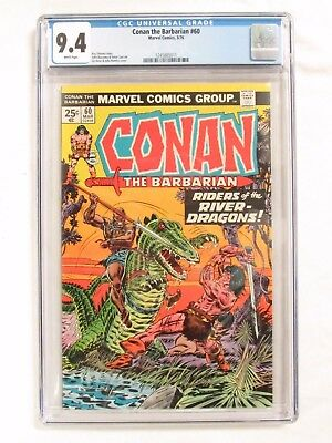 Conan The Barbarian #60 (1976) CGC 9.4 White Pages Marvel Comics CM434
