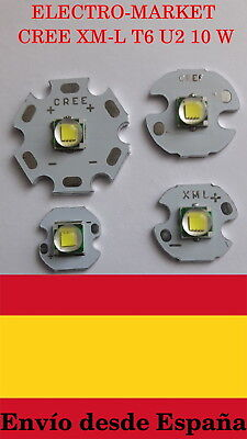 Led chip CREE XM-L T6 LED T6 U2 10 W BLANCO 12mm 14mm 16mm 20mm