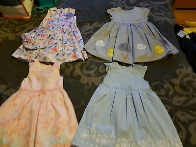4 x Baby Girl Summer Dresses Size 12-18 months