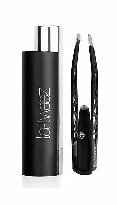 LaTweez Pro Illuminating Tweezers with Lipstick Case, Black, 0.5 Pound