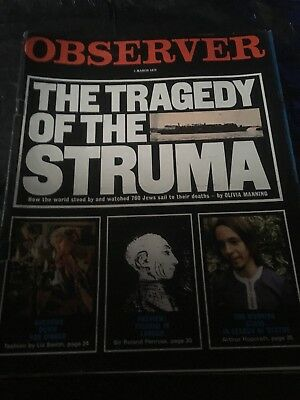 Observer Vintage Newspaper Magazines X5 Job Lot