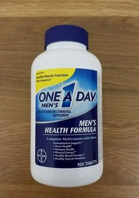 Bayer One A Day Men's Multivitamin Men's Health Formula 300 Tablets 5/19
