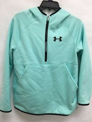 USED Under Armour 1/4 Fleece Pullover Blue Youth Sz:L (sb)