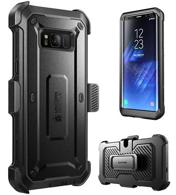 Samsung Galaxy S8 Case, SUPCASE Full-body Clip Holster Cover w/ Screen Protector