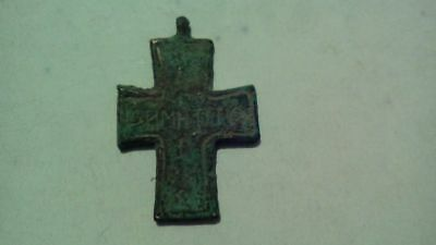 Bronze Ancient Christian Byzantin Cross Artifact