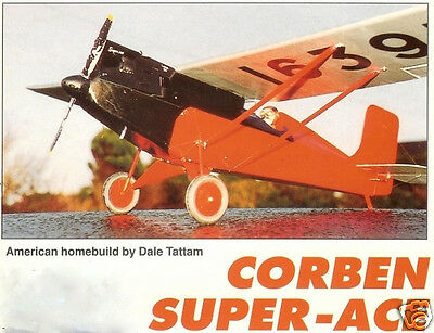 """Model Airplane Plans (RC): Corben Super-Ace 60"""" 1:6.5 Scale by Dale Tattam"""