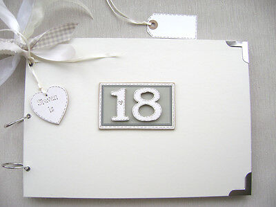 Personalised. 18Th Birthday A4 Size..photo Album/scrapbook/memory/guest Book.