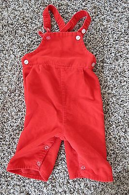 Vintage Toddletime Red Corduroy Overalls Dungarees Children's Size 1