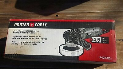 "Porter Cable 6""(152mm) Variable Speed Random Orbit Polisher 7424XP FREE SHIPPING"