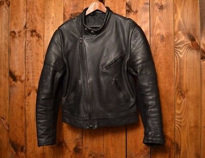 Brutal British Riders Leathers Cafe Racer Motorcycle Biker Leather Jacket 40-M
