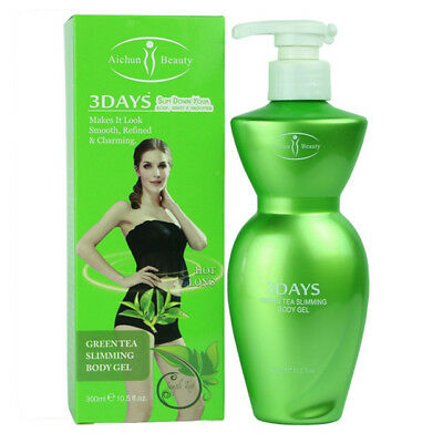 Aichun Beauty 1pc 300ml Green Tea Slimming Body Gel With Pump, Slim Down