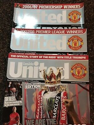 Inside United - Manchester United magazine - 3 Souvenir Editions - Very Rare