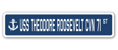 uss theodore roosevelt cvn 71 street sign us navy ship veteran sailor gift