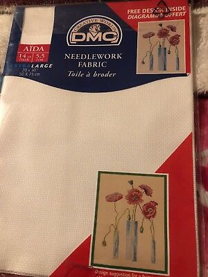 Pack Of  DMC Extra Large Needlework/sewing Fabric 50 X 75 Cm 14 count