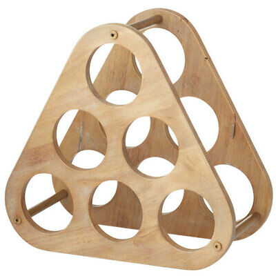 Albi Concord Wine Rack Stand Wooden Shelf 6 Bottle Organiser Holder for Home Bar