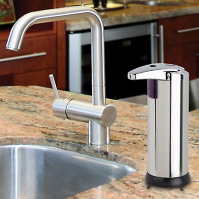 Automatic stainless steel 240ML Touchless IR Sensor Liquid Soap Dispenser D9TI