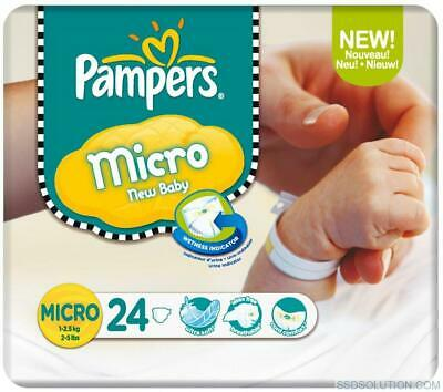 Micro Size 0 1-2.5kg - For Early Babies (24 Nappies)