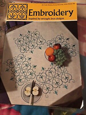 coats Embroidery Patterns booklet inspired by wrought iron designs