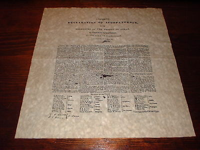 Texas Declaration on Independence,Republic Of Texas Repro Letters and Documents