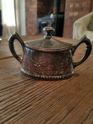 Reed & Barton Silver Soldered Sugar Bowl with Lid 478 S Beautiful