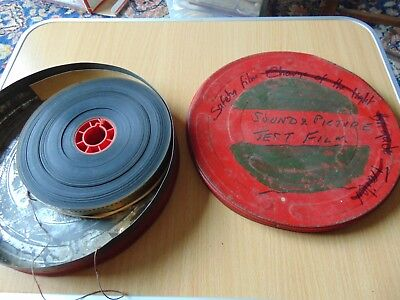 VINTAGE 35mm SOUND AND PICTURE TEST FILM MOVIE REEL